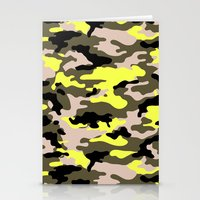 camouflage Stationery Cards featuring camouflage by RIZA PEKER