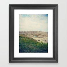 The Badlands / South Dakota Framed Art Print
