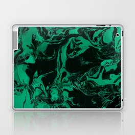 Green and black Marble texture acrylic Liquid paint art Laptop & iPad Skin