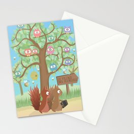 Joe Noisette | On its Way to the Squirrel Village Stationery Cards