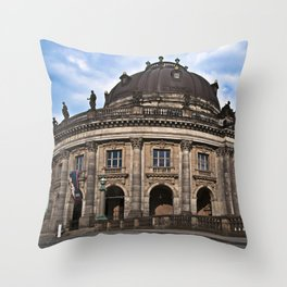 Urban Berlin Landscape with dramatic clouds Throw Pillow