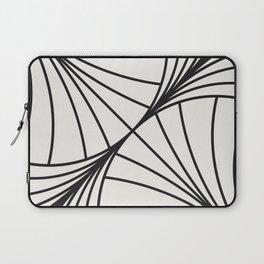 Diamond Series Round Wave Charcoal on White Laptop Sleeve