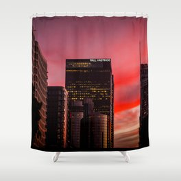 Skyscapes in Los Angeles Shower Curtain