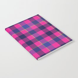 Pink and Navy Plaid Notebook