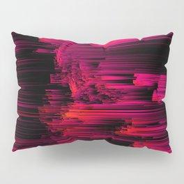 Burnout - Glitch Abstract Pixel Art Pillow Sham