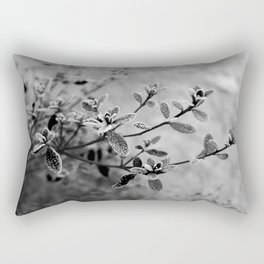 Morning frost (black and white) Rectangular Pillow