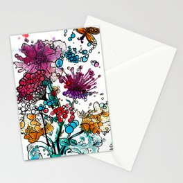 Floral watercolor abstraction Stationery Cards