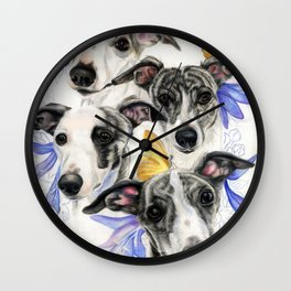 Whippets Wall Clock