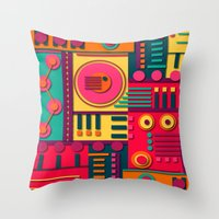 sunrise Throw Pillows featuring Sunrise by Shelly Bremmer