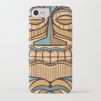 tiki iPhone & iPod Cases featuring Tiki by Brad Hansen