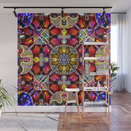 The Stained Glass Psychoactive Cat Wall Mural