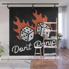 Don't Panic - Dice (Dark) Wall Mural