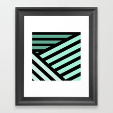 STRIPED {MINT} Framed Art Print