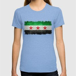Syrian independence flag, vintage style T-shirt