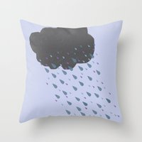 cloud Throw Pillows featuring Cloud by BlackBlizzard