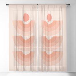 Abstraction_SUN_Rainbow_ART_Minimalism_006 Sheer Curtain