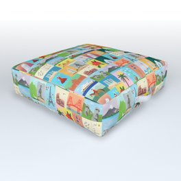 Wish You Were Here Outdoor Floor Cushion