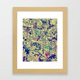 Kamasutra LOVE - Piss Yellow Framed Art Print