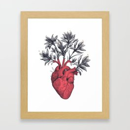Blooming heart Framed Art Print