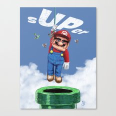UP from the pipe Canvas Print