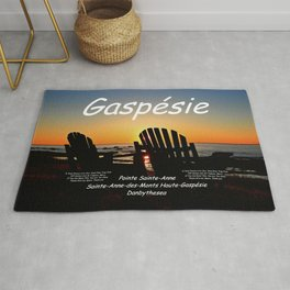 Gaspésie Chairs at Sunset, mask edition Rug