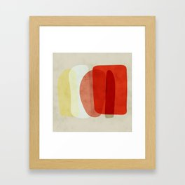 shapes modern abstract Framed Art Print