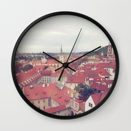 Prague Czech Republic Photography Rome Italy Sale Wall Decor Art Square Print Set Wall Clock