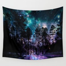 One Magical Night... (teal & purple) Wall Tapestry