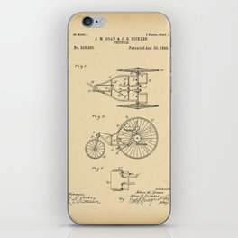 1895 Patent Bicycle Velocipede iPhone Skin