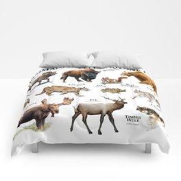 Mammals of Yellowstone Park Comforters