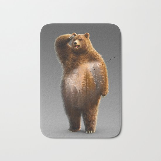 Bear X Bath Mat