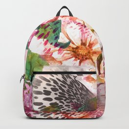 Animal flowers abstract Backpack