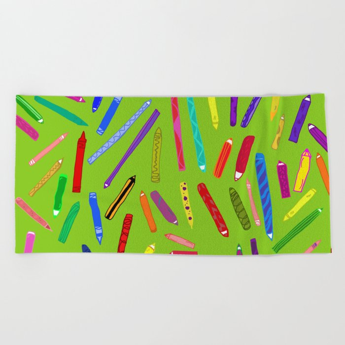 Fun loving crayons Beach Towel