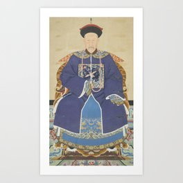 An Ancestor Portrait of an Official - Chinese, 19th century - Scroll painting - Mandarin Court Art Print