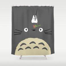 Cute Totoro Shower Curtain
