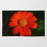 mexican Area & Throw Rugs featuring Mexican Sunflower by Awesome Palette