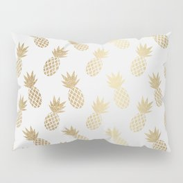 Gold Pineapple Pattern Pillow Sham