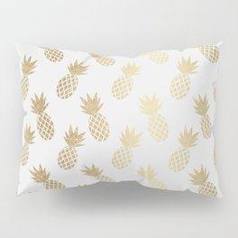 Gold Pineapple Pattern Pillow Sham
