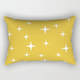 Mid Century Modern Star Pattern 443 Mustard Yellow Rectangular Pillow