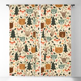 Woodland Creatures Blackout Curtain