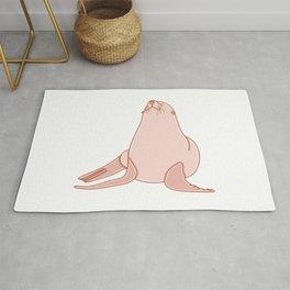 Cute Sea Lion Illustration Rug