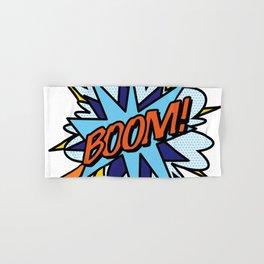 Comic Book Pop Art BOOM Hand & Bath Towel