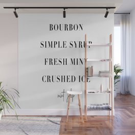 Mint Julep Cocktail Recipe Wall Mural