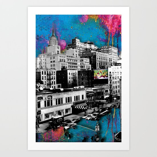 Paint The Town Art Print