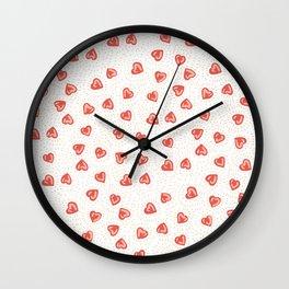 Sparkly hearts Wall Clock