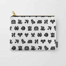 Zodiac astrology symbols pattern Carry-All Pouch