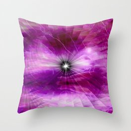 Fractal Soft Glow Throw Pillow