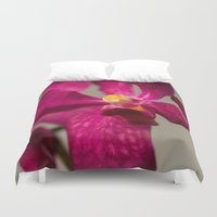orchid Duvet Covers featuring Orchid by Michelle McConnell