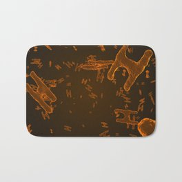 Abstract orange virus cells Bath Mat