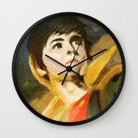percy jackson Wall Clocks featuring Percy and Riptide by Tune In Apparel